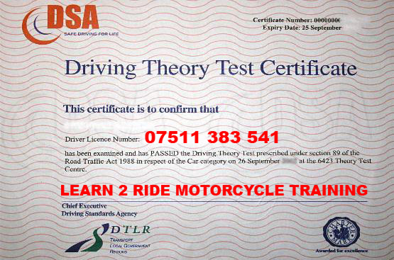 Please Click Here For Theory Test Information